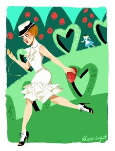 "philliplight:      ""Oh goodness! I'm late for my very important date!"" Lookin' like that she's probably got a hot date for sure! Haha! A White Rabbit outfit illustration for Disneybound  disneybound:      By Phillip Light"