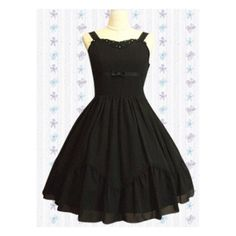 Sleeveless Cotton Gothic Lolita Black Dress