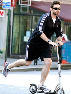 My life has been changed by finding out that Hugh Jackman scoots places.