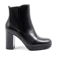 V 1969 Italia Womens Heeled Ankle Boot Black MADELYN – Reseller Hub Black Ankle Boots, Calf Leather, Versace, Calves, Milano Italia, Booty, Heels, Composition, Color Black