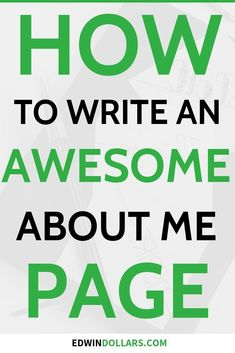 How To Write An Awesome About Me Page (Template Included! Make Easy Money, Make Money Blogging, Make Money Online, About Me Page, About Me Blog, Marketing Strategy Template, Best Home Business, Business Tips, Everyone Makes Mistakes