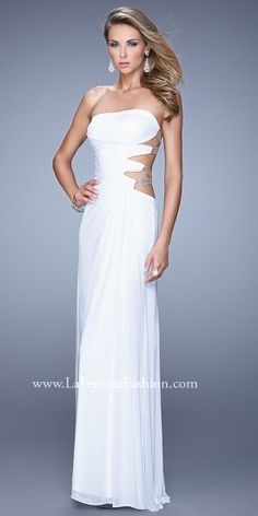 La Femme Rhinestone Strap Prom Dresses  PromDress Straps Prom Dresses 52c9853db