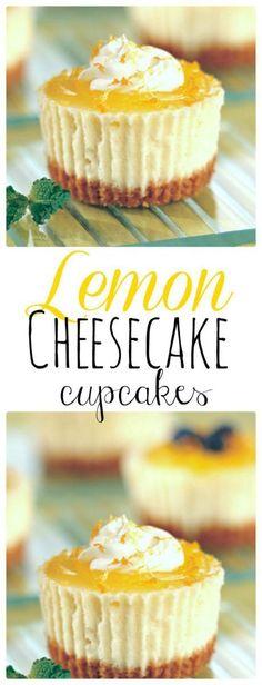 Lemon Cheesecake Cupcake. Easy Recipe.