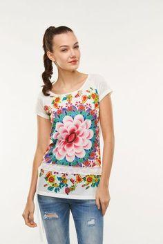 T-shirt damski mozaika