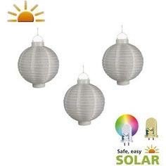Luxform Solar Hang lantaarn set China 3 stuks