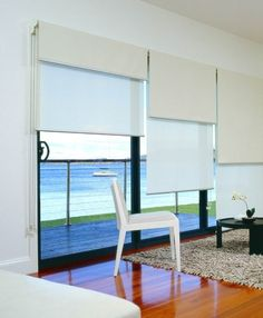 Casual Living Room, Double roller blinds again. House Blinds, Blinds For Windows, Curtains With Blinds, Grey Blinds, Shades Blinds, Cortina Roller, Double Roller Blinds, Indoor Blinds, Modern Window Treatments