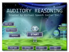The Auditory Reasoning app was created by a certified speech and language pathologist for students, ages 6 and up with central auditory processing disorder (CAPD) or other related disorders (e.g., receptive language disorder or autism), to improve auditory processing requiring reasoning and high-level thinking. All the tasks are presented orally so the students can work solely on their auditory skills and processing.