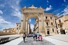 Porta Reale, Gateway to Noto, Sicily