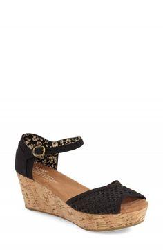 4c6ea6f45200e TOMS Crochet Mesh Platform Wedge Sandal (Women) available at. Ankle Strap  SandalsPlatform ...