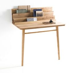 desk - le scriban-la redoute - Margaux Keller Design Studio Would be so neat for a dorm or small apt. Bureau Design, Design Desk, Wood Furniture, Modern Furniture, Furniture Design, Furniture Projects, Deco Design, Design Studio, Wooden Tables