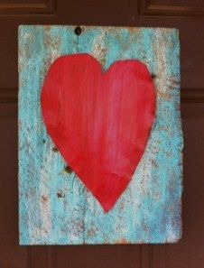 Corrugated Tin Heart Wall Plaque by sturchr on Etsy, $14.95