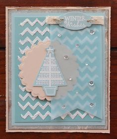 Hand stamped card by Tania Wagner using the Holiday Greeting set from Verve Stamps. #vervestamps