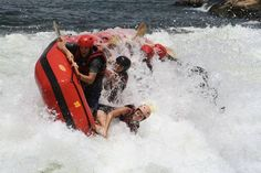 Rafting the White Nile, Uganda - hold on tight!
