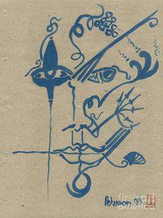 Element 1999. Face Series No. 1 Painting  - Element 1999. Face Series No. 1 Fine Art Print