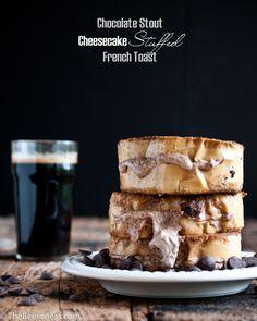 Chocolate Stout Cheesecake Stuffed French Toast