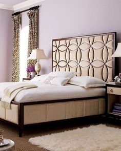 more headboard inspiration, and love the zebra curtains!!!