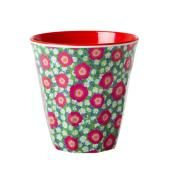 The classic and absolutely indispensable medium RICE melamine cup with 'Peony' print. This cup is one of our most Motif Liberty, Childrens Kitchens, Peony Print, Baby Clothes Online, Pink Poppies, Retro Baby, Toddler Gifts, Cupping Set, Tricks