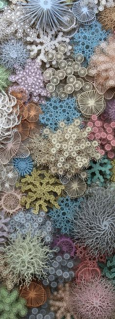 Pinterest Arte Coral, Coral Reef Art, Coral Reefs, Coral Reef Drawing, Painting Inspiration, Art Inspo, Home Bild, Paper Cutting, Cut Paper