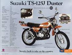 """Résultat de recherche d'images pour """"suzuki 125 TS"""" Motorcycle Posters, Motorcycle Types, Scrambler Motorcycle, Bmw Motorcycles, Vintage Motorcycles, Motorcycle Gear, Suzuki Ts125, Suzuki Bikes, Suzuki Cafe Racer"""