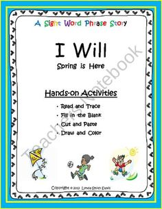 A Sight Word Phrase Story - I Will product from Funny First Grade on TeachersNotebook.com