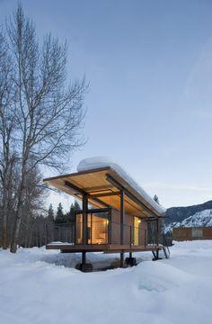 Rolling Huts, designed by Olson Kundig Architects, Mazama/USA