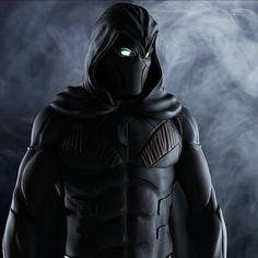 Knight Art, Dark Knight, Moon Knight Cosplay, Moon Knight Comics, Superhero Suits, Marvel Comics Superheroes, Shadow Warrior, Helmet Design, Super Hero Costumes