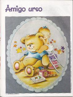 Ursinho e bebê risco