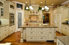 Antique Ivory but black tops and darker floors