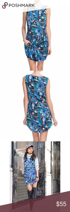 Thakoon Addition silk tie waist shirt dress Pristine condition, worn once for shoot. Thakoon blue camo silk tie waist dress with shirt tail hem. Size 2. Can be worn year round if layered correctly! (I wore it for my blog when I was 7 months pregnant!) Additional details here (though it is silk, not polyester as described): https://www.modaoperandi.com/thakoon-pre-fall-2012/drawstring-shirtdress Thakoon Dresses