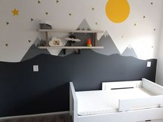 Baby Boy Rooms, Baby Room, Kidsroom, Diy Room Decor, Home Decor, Kids Bedroom, Wall Stickers, Toddler Bed, New Homes