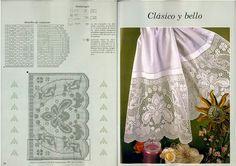 Victoria - Handmade Creaciones: 7 diseños de encaje fantástico para toallas y cortinas