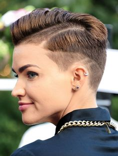 Don't be afraid to be daring and try a graphic buzzcut like Ruby Rose.