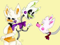 Mangle,tangle and lolbit by nictaArt