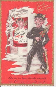 Gruß vom Krampus mit Rute und Gedicht ngl 221.543   eBay