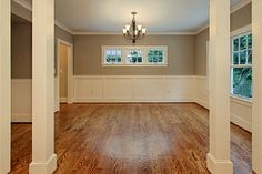 Dining Room columns and wainscotting