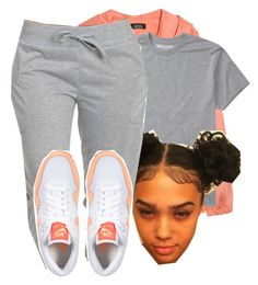 """""""I tried this 1."""" by deasia-still-thugin-honey ❤ liked on Polyvore featuring beauty, A.P.C., Billabong and NIKE"""