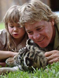 Memories: Bindi and her father, Steve Irwin.