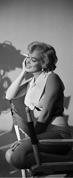 """Marilyn during a publicity photo sitting for """"The Seven Year Itch"""", 1954."""