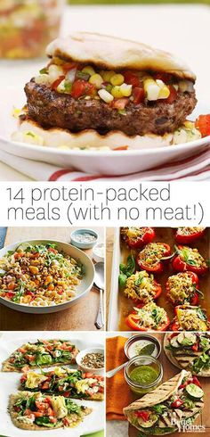 High protein vegetarian meals