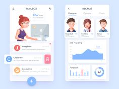Recruitment APP and Illustration designed by Rounded Rectangle. Connect with them on Dribbble; the global community for designers and creative professionals. App Ui Design, Mobile App Design, Web Design, Graphic Design, Dashboard Mobile, Mobile Application Design, App Design Inspiration, Design Ideas, Jobs Apps