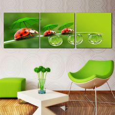 Flower Canvas Print Wall Paintings Oil Art Pictures Modular Painting On Bilder Modern 3 Piece Decoration Maison Home Picture * You can find more details by visiting the image link. #HomeDecor