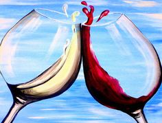 We host painting events at local bars. Come joi… Paint Nite. We host painting events at local bars. Come join us for a Paint Nite Party! Wine And Paint Night, Paint And Drink, Wine Painting, Bottle Painting, Painting Art, Paintings, Wine And Canvas, Wine Art, Arte Pop