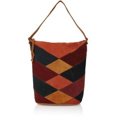 TopShop Suede Patchwork Shoulder Bag (£65) ❤ liked on Polyvore featuring bags, handbags, shoulder bags, topshop, multi, red handbags, suede shoulder bag, shoulder hand bags, shoulder bag purse and patchwork purse