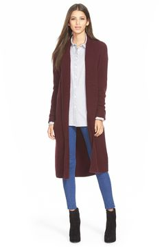 Leith Long Open Front Cardigan