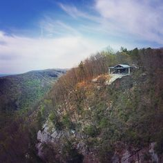 """The Fred W. Symmes Chapel (also known as """"Pretty Place"""") is located at the YMCA's Camp Greenville in Cleveland, SC. It's perched on the edge of a mountain nearly 3000 feet above sea level with heavenly views for miles."""