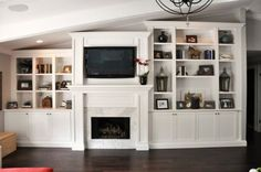 how to make living rooms built in shelves look current | 70's Living Room  Fireplace Renovation - Fine Homebuilding