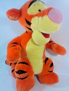 "Disney Mattel Tigger Plush Jumbo 21"" Standing Winnie Pooh Stuffed Animal Tiger  #DisneyMattelArcoToys"