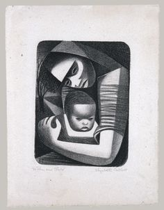 Elizabeth Catlett: Mother and Child, 1944.