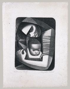 Elizabeth Catlett: Mother and Child, 1944.