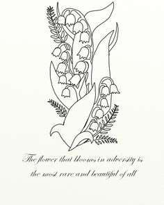 Lily of the Valley Tattoo by ~JadeDruid87 on deviantART